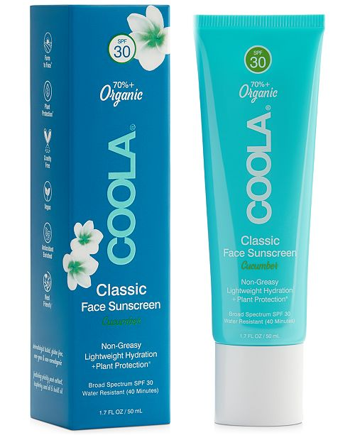 COOLA Classic Face Organic Sunscreen Lotion SPF 30 - Cucumber