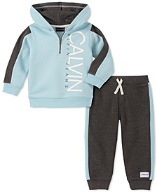 Baby Boys 2-Pc. Fleece Logo Hoodie & Pants Set
