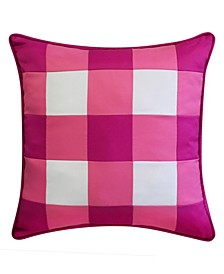 "Outdoor Gingham Decorative Pillow, 20"" x 20"""