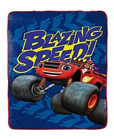 Nickelodeon Blaze Fast Track Fleece Blanket