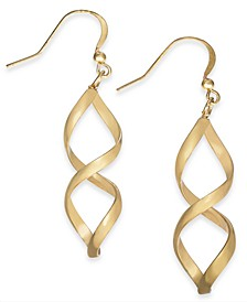Rose Gold-Tone Twist Drop Earrings, Created for Macy's