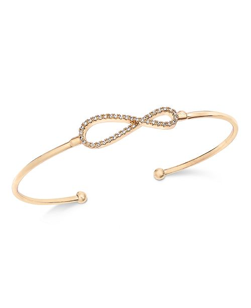 Charter Club Pavé Infinity Cuff Bracelet, Created For Macy's