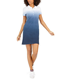 Tommy Hilfiger Ombré Polo Dress, Created For Macy's