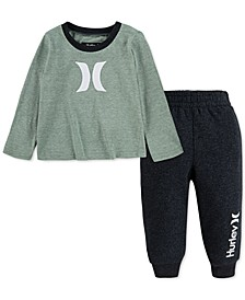 Baby Boys 2-Pc. T-Shirt & Jogger Pants Set