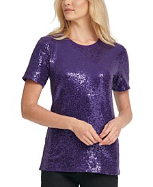 Foundation Sequin Crewneck Top