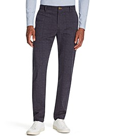 Men's Straight-Fit Stretch Houndstooth Pants