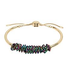 Rainbow Wire Wrapped Adjustable Slider Bracelet