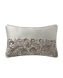 "Danehill 11"" x 20"" Embroidered Decorative Pillow"