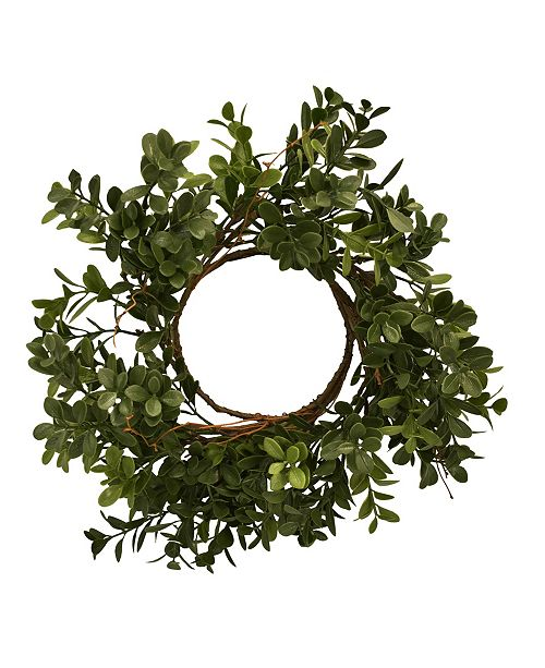 "Mills Floral 11"" D Artificial Boxwood Wreath, Box Contains 3"