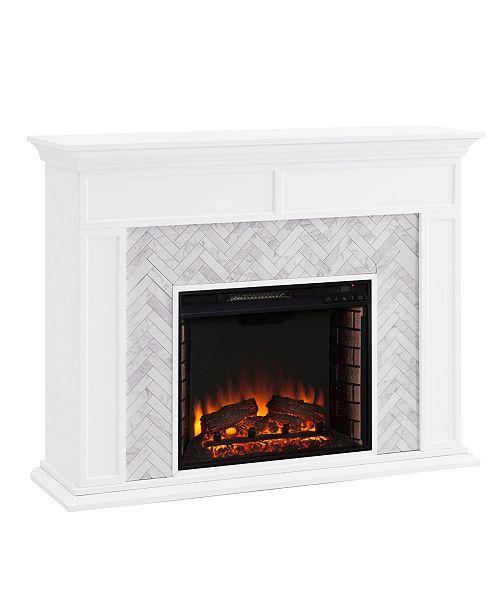 Southern Enterprises Anika Marble Tiled Fireplace