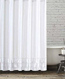 BCBG Ruffle Edge Shower Curtain