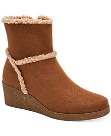 Jordanyy Wedge Ankle Booties, Created for Macy's