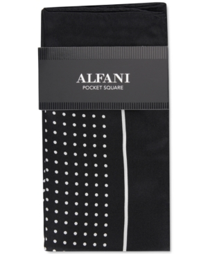 Alfani Men's Dot Silk Pocket Square, Created for Macy's