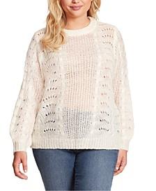 Plus Size Hazel Pointelle Sweater