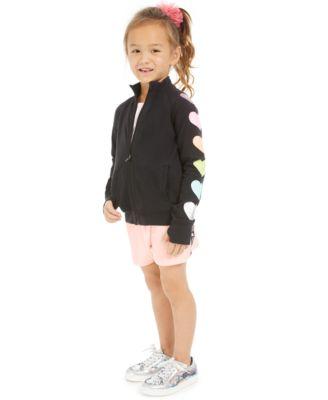 Little Girls Velour Tape-Trim Shorts, Created For Macy's