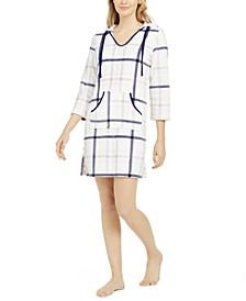 Women's Long Sleeve Hooded Fleece Pajama Lounger, Online Only