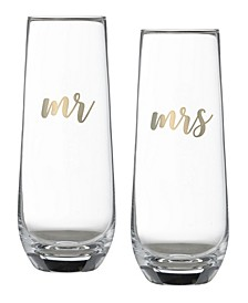 Mr and Mrs Champagne Glass Set