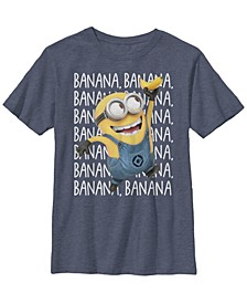 Despicable Me Big Boy's Minions Gone Bananas Short Sleeve T-Shirt