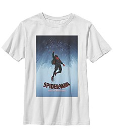Marvel Big Boys Spiderverse Upside Down City Poster Short Sleeve T-Shirt