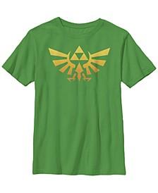 Nintendo Big Boy's Legend of Zelda Royal Crest Orange Hue Badge Short Sleeve T-Shirt