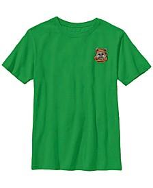 Star Wars Big Boys Ewok Left Chest Short Sleeve T-Shirt