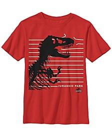 Jurassic Park Big Boy's T-Rex Broken Fence Short Sleeve T-Shirt