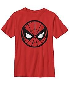 Marvel Big Boy's Spider-Man Circle Mask Short Sleeve T-Shirt