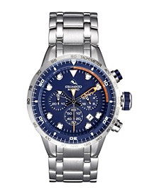 Men's Warrior Stainless Steel Performance Timepiece Warrior Chronograph Watch 44mm