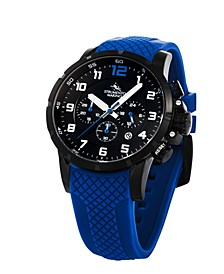 Men's Summertime Nautical Blue Silicone Timepiece Watch 46mm