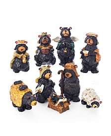 4-Inch Resin Nativity Bear Set of 9 Pieces