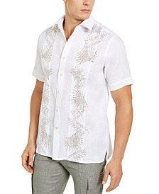 Men's Pintucked Palm Shirt, Created for Macy's