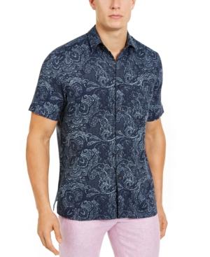 Tasso Elba Men's Celestial Paisley Shirt, Created for Macy's