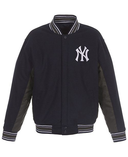 JH Design Men's New York Yankees All Wool Reversible Jacket