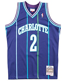 Men's Larry Johnson Charlotte Hornets Hardwood Classic Swingman Jersey