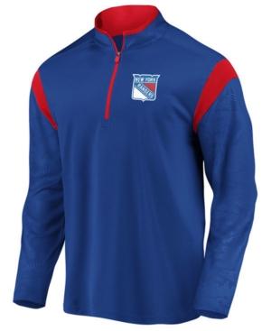 Men's New York Rangers Defender Half-Zip Pullover