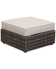 Viewport Outdoor Ottoman with Sunbrella® Fabric, Created for Macy's