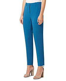 Crepe Slim-Leg Ankle Pants