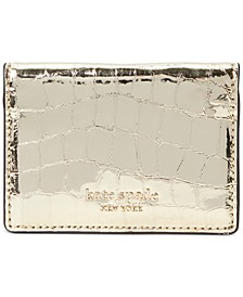 Sylvia Croc-Embossed Mirror Card Case