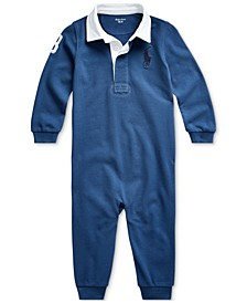 Baby Boys Cotton Graphic Rugby Coverall