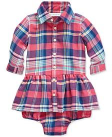 Baby Girls Plaid Shirtdress