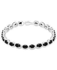 Black Onyx (22 mm) Bracelet in Sterling Silver