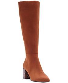 INC Women's Ozara Block-Heel Dress Boots, Created For Macy's