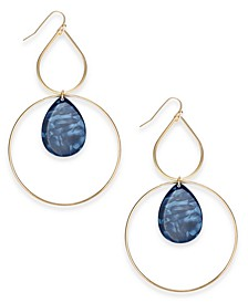INC Gold-Tone Resin Stone Drop Earrings, Created For Macy's