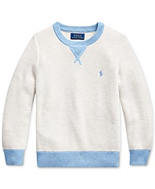 Toddler Boys Textured Cotton Sweater