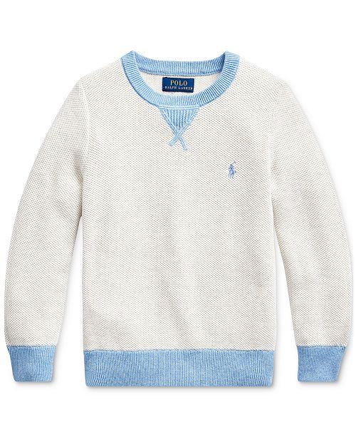 Polo Ralph Lauren Toddler Boys Textured Cotton Sweater