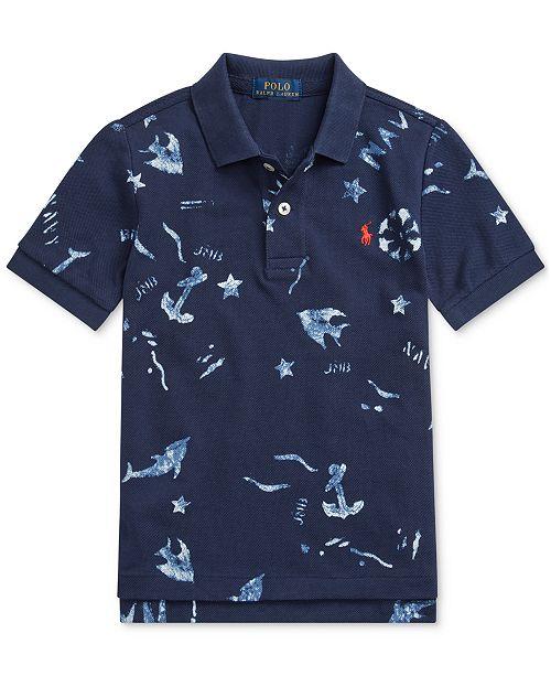 Polo Ralph Lauren Little Boys Nautical Cotton Mesh Polo