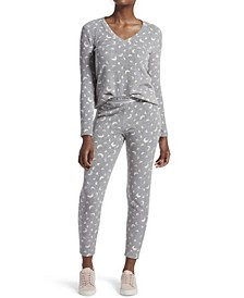Moon Dot Leggings Pajama Set, Online Only