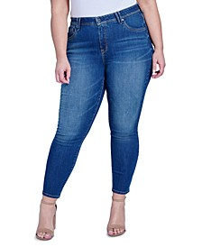 Trendy Plus Size High-Rise Ab-Solute Skinny Jeans