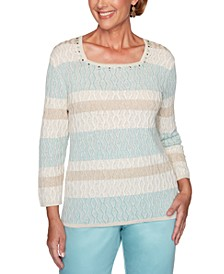 Petite Cottage Charm Biadere Texture Sweater
