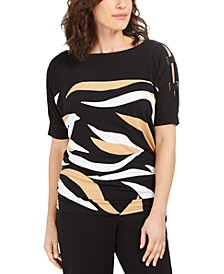 Printed Strappy-Sleeve Tunic, Created for Macy's